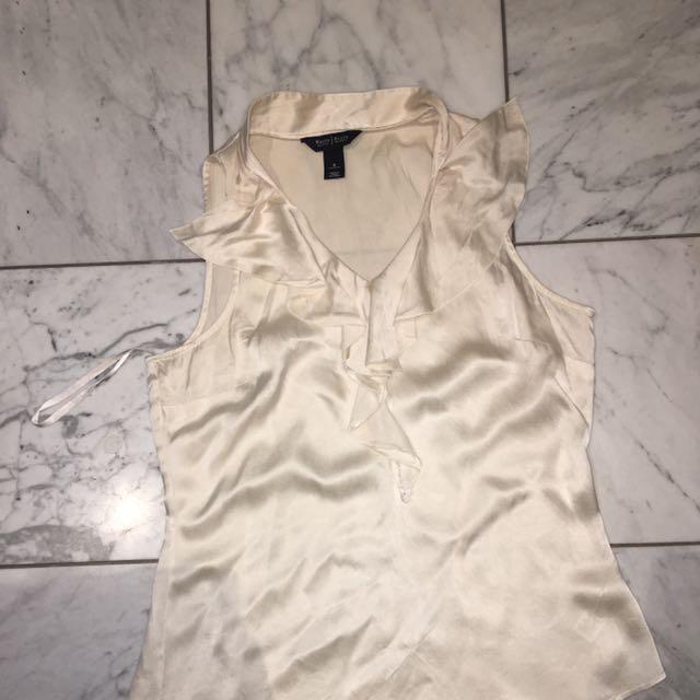 Cream Silk Top Size S