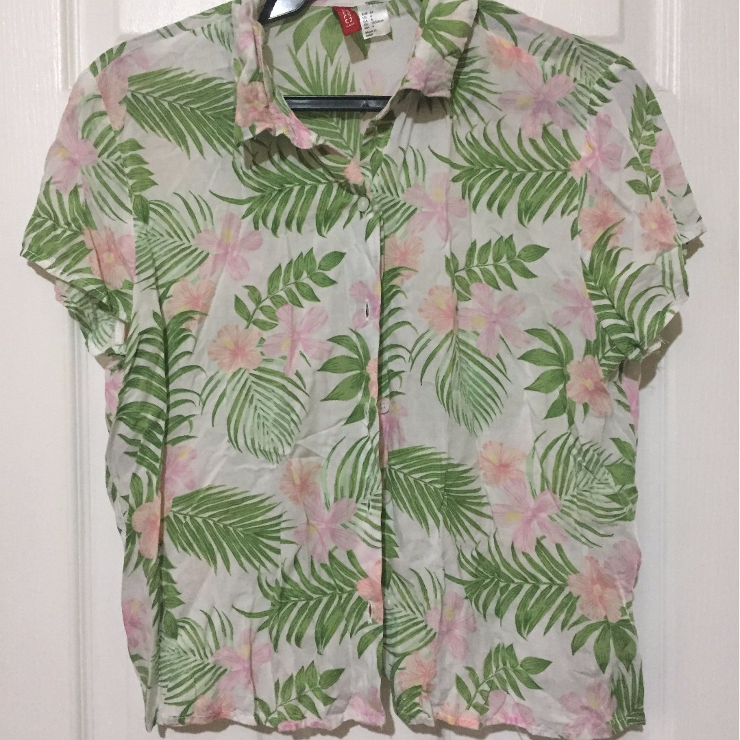 Cropped Tropical Shirt