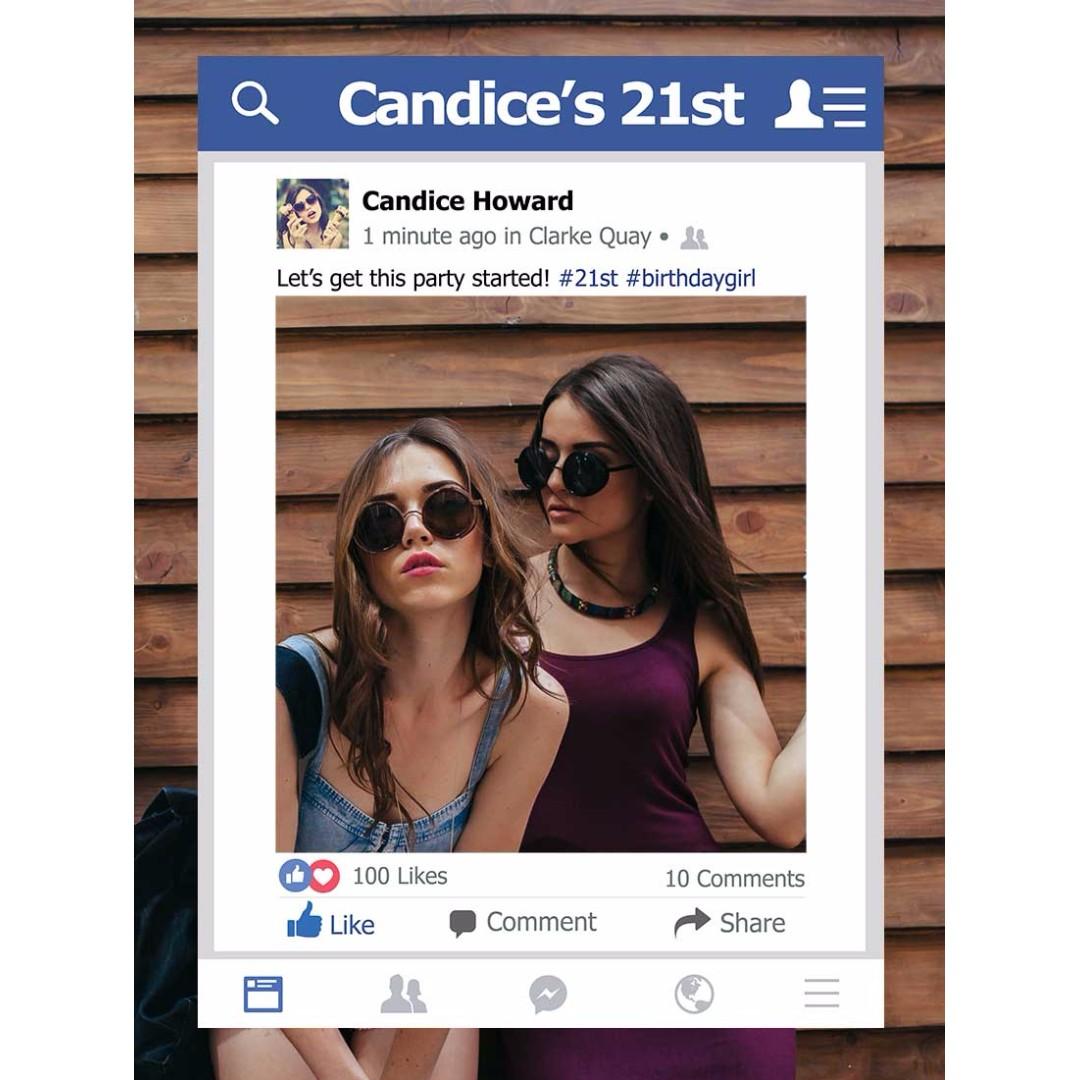 Custom Large Facebook Photobooth Frame Prop Everything Else On