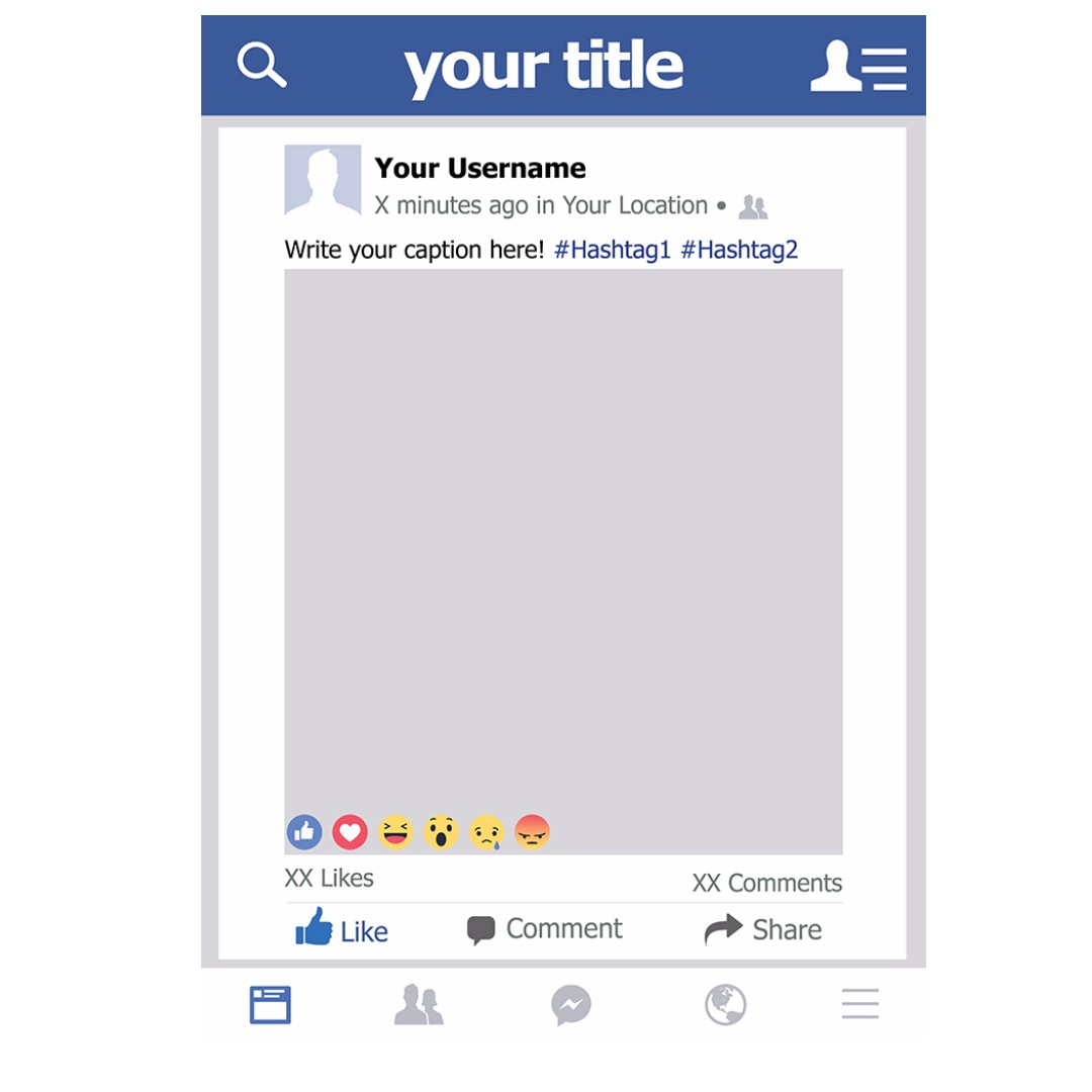 Custom LARGE Facebook Photobooth Frame Prop, Everything Else on ...