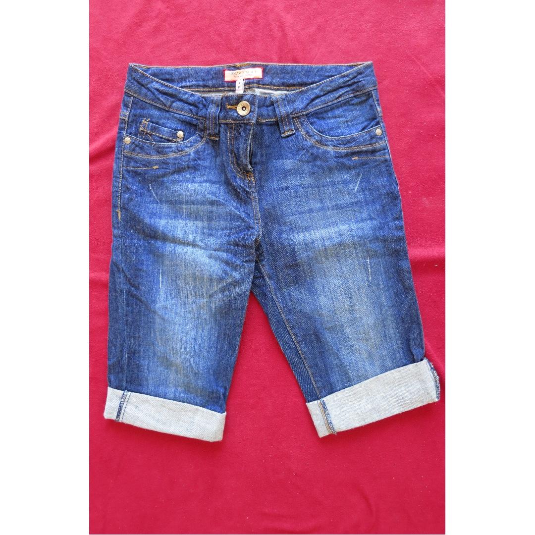 Denim long shorts