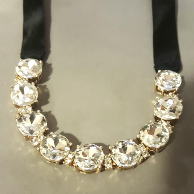 Diamond Laced Necklace- Banana Republic