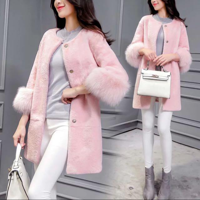 Elegant Soft Pink Coat