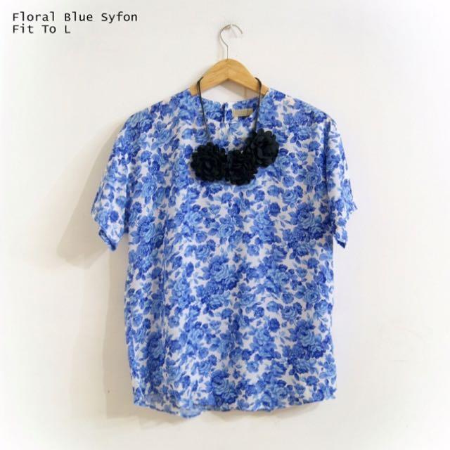 Floral Blue Syfon