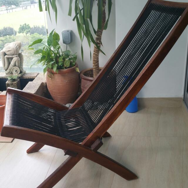 Foldable Balcony Chair Furniture Tables Chairs On Carousell