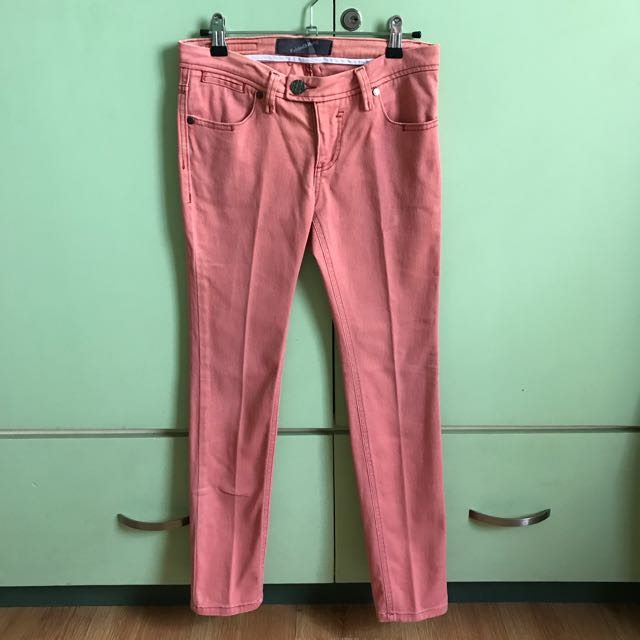 Folded And Hung Straight Cut Pants