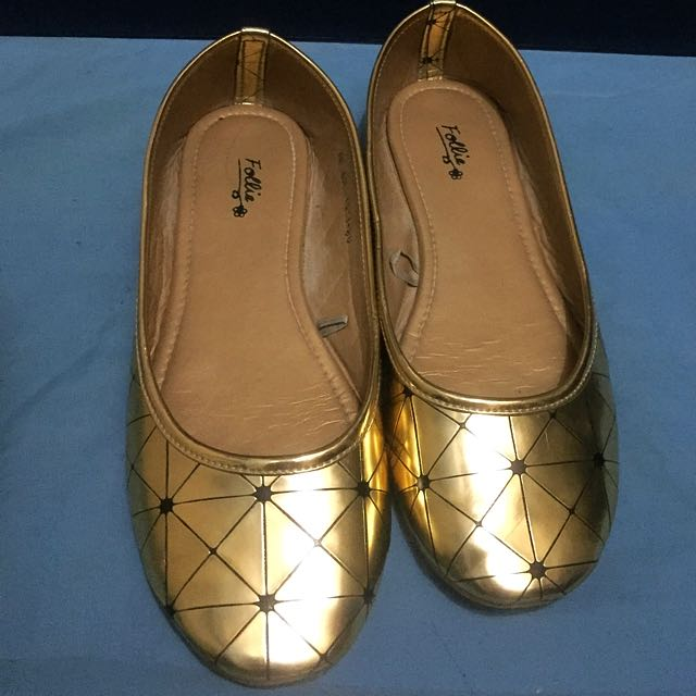 Follie Ballet Flats Gold And Silver