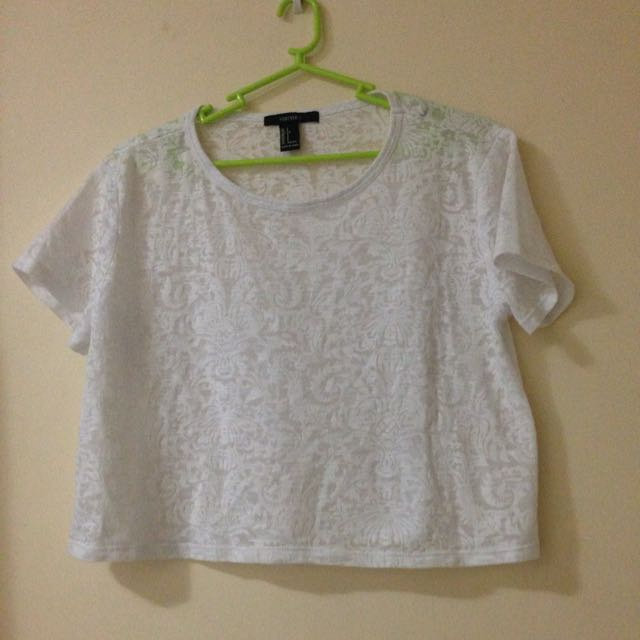 Forever21 Cropped Top (See Through)