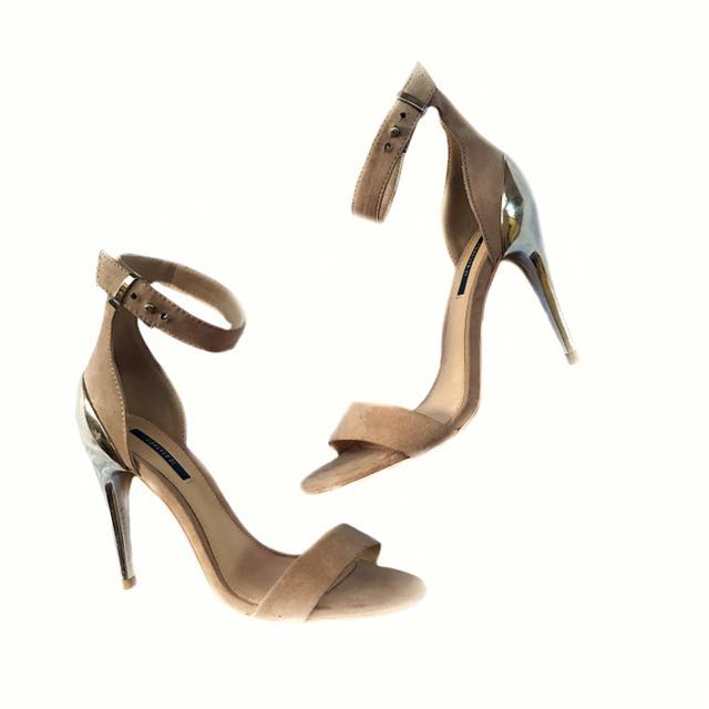 Forever 21 Faux Suede Ankle Strap Heeled Sandals