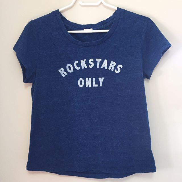 Garage Blue rockstars only shirt