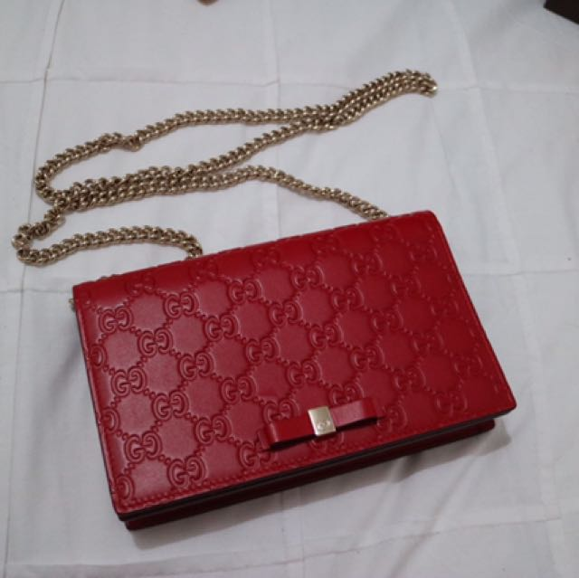 07fcafbec Gucci Signature Mini Bag, Luxury, Bags & Wallets on Carousell