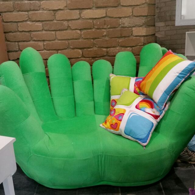 Hand Shaped 2 Person Couch
