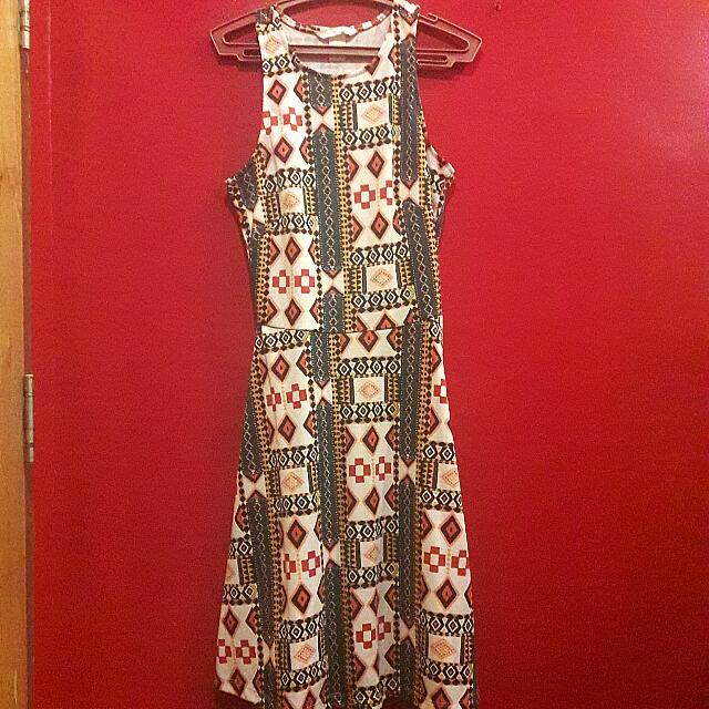H&M Aztec Razorback Dress