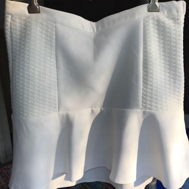 H&M White Skirt
