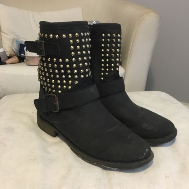 Just Fab Studded Boots Size 7.5