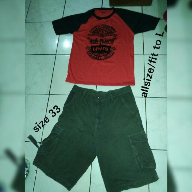 ee1bddd7c36 Kaos+Celana Size 33 . No Nego Udah Murah Banget