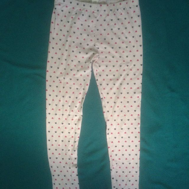 Leggings With Hearts Design