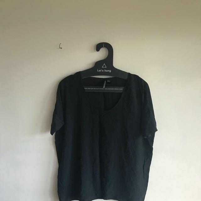 Mango Suit Black Shirt