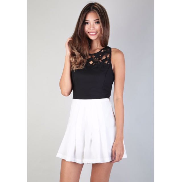 Mgp Elisa Crochet Top In Black Womens Fashion Clothes Tops On