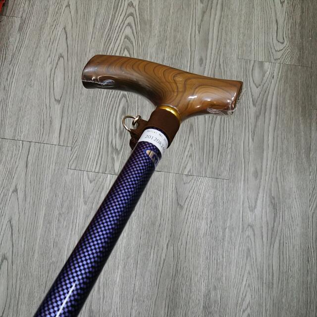 日本進口,Miki 三貴格仔紋拐杖 (實木扶手,超硬堅,超輕,飛行鋁合金製)