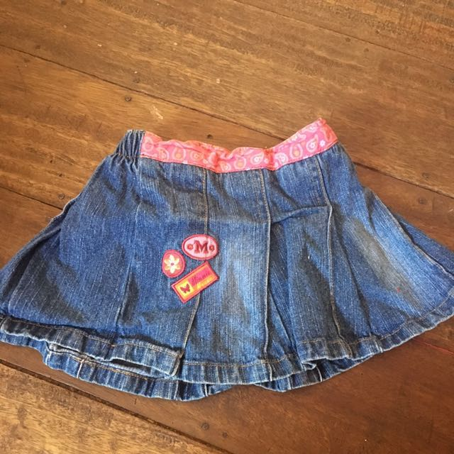 Minnie Mouse Maong Skirt