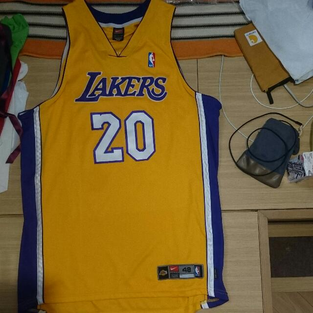 sale retailer 82ef5 accf2 Nike Lakers Gary Payton Authentic Jersey 落埸版球衣 湖人 Dri Fit A Sewn