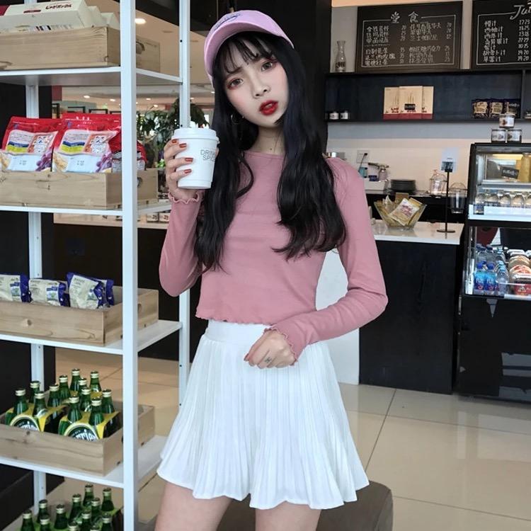 🆕春夏新款-純色休閒學生半身裙-現貨全新-NT300