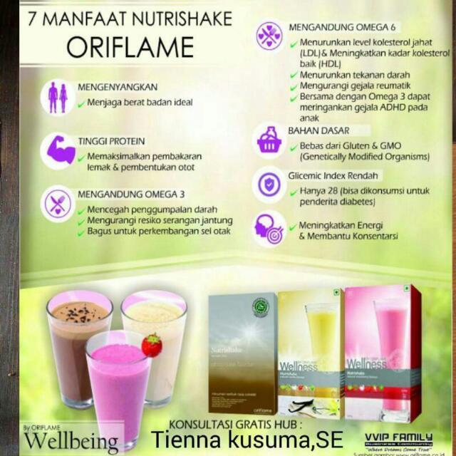 Nutrishake Oriflame Penurun Berat Badan, Health & Beauty