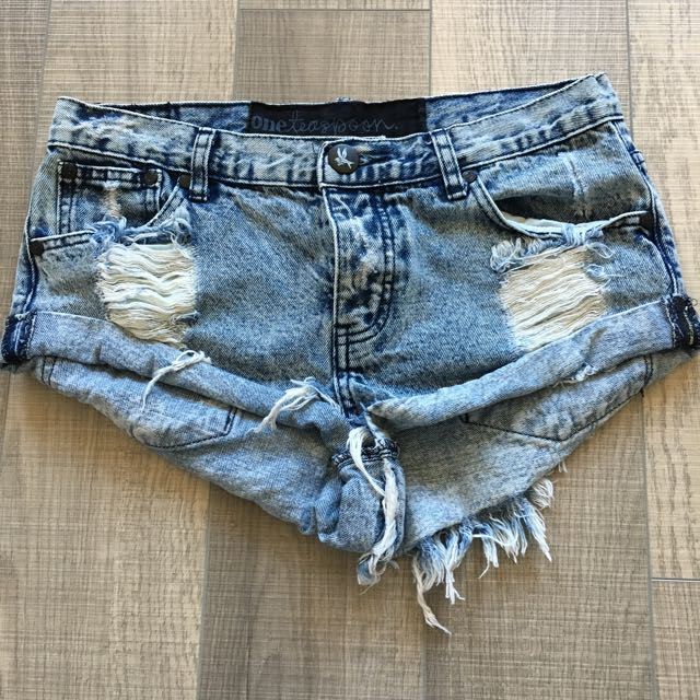 One Teaspoon Distressed Short Shorts
