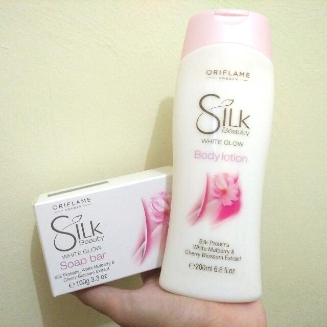 ORIFLAME - SILK BEAUTY WHITE GLOW SET