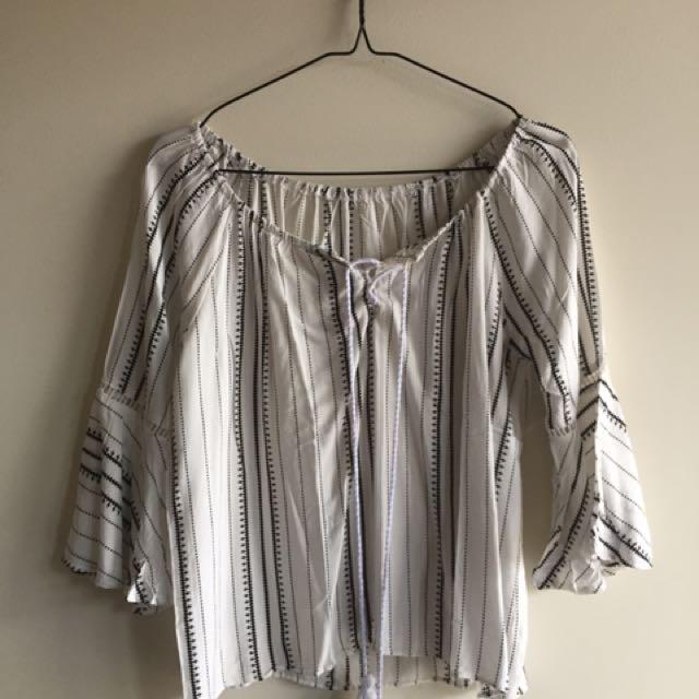 pattern off shoulder top