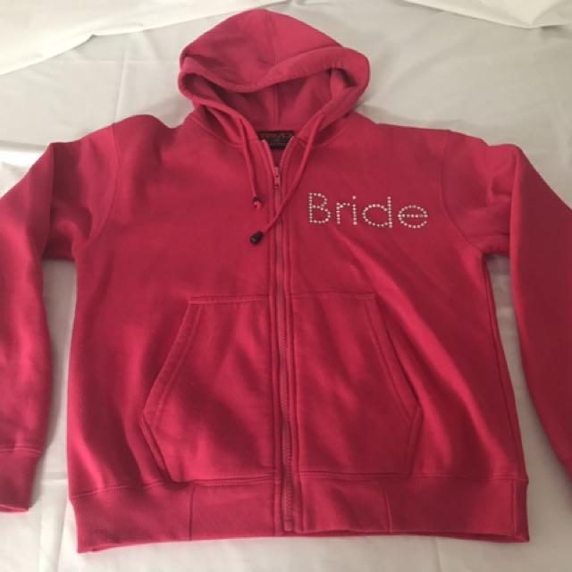 Pink BRIDE Hoodie Size 10