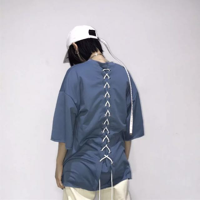 PO - BACKLACED T SHIRT