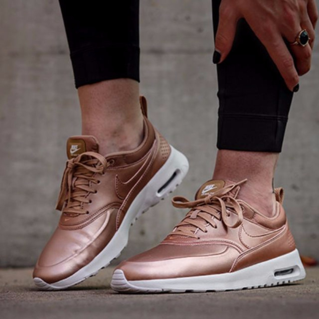 a829c1661e0 PO) Nike Womens Air Max Thea Red Bronze   Copper   ROSE GOLD ...