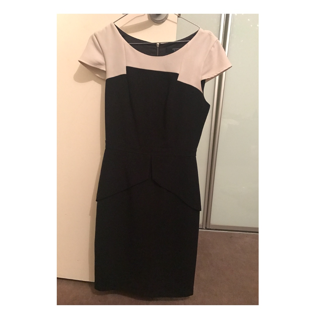 Portmans Workwear Peplum Dress Size 8