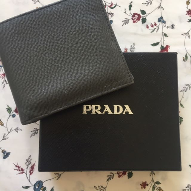 6735ddb360b1 Prada 2M0738 Men's Saffiano Leather Bifold Wallet with Coin Pouch ...