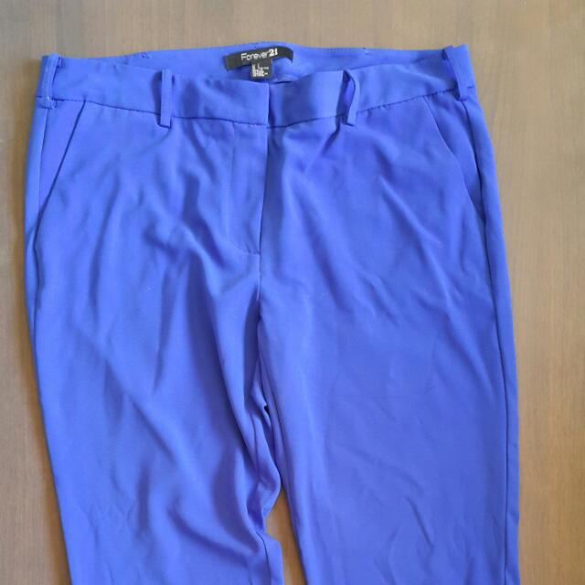 Pre-loved Forever21 Royal Blue Trousers