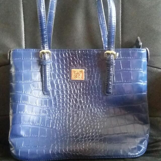 Purple Leather Snake Skin Tote Bag
