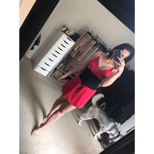 Red Silky Dress