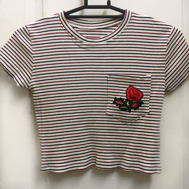 Rose Patch Cropped Top