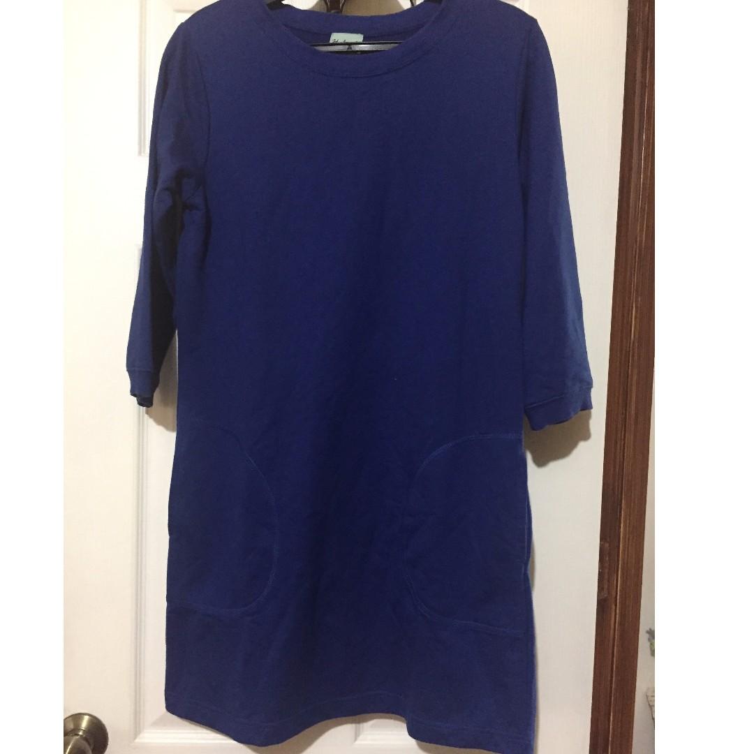 Royal Blue Sweat Shirtdress