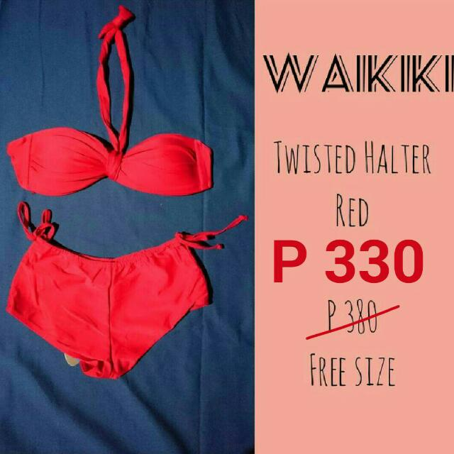 SALE! Twisted Halter Two-piece Swimsuit