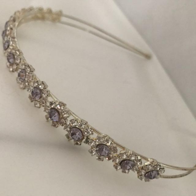 Silver Amethyst Headband