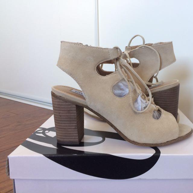 Steve Madden Suede Lace-up Sandal Heels