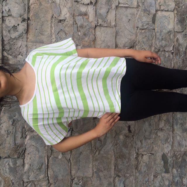 Stripes Green Top