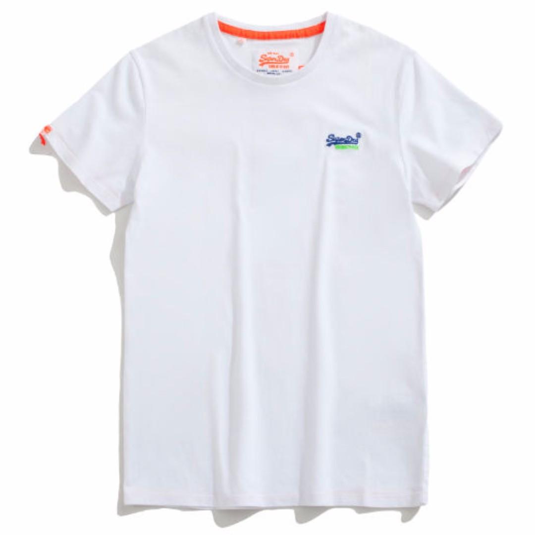 Superdry 極度乾燥 Orange Label 彈性 胸口 刺繡 T恤 美國公司貨 全新正品