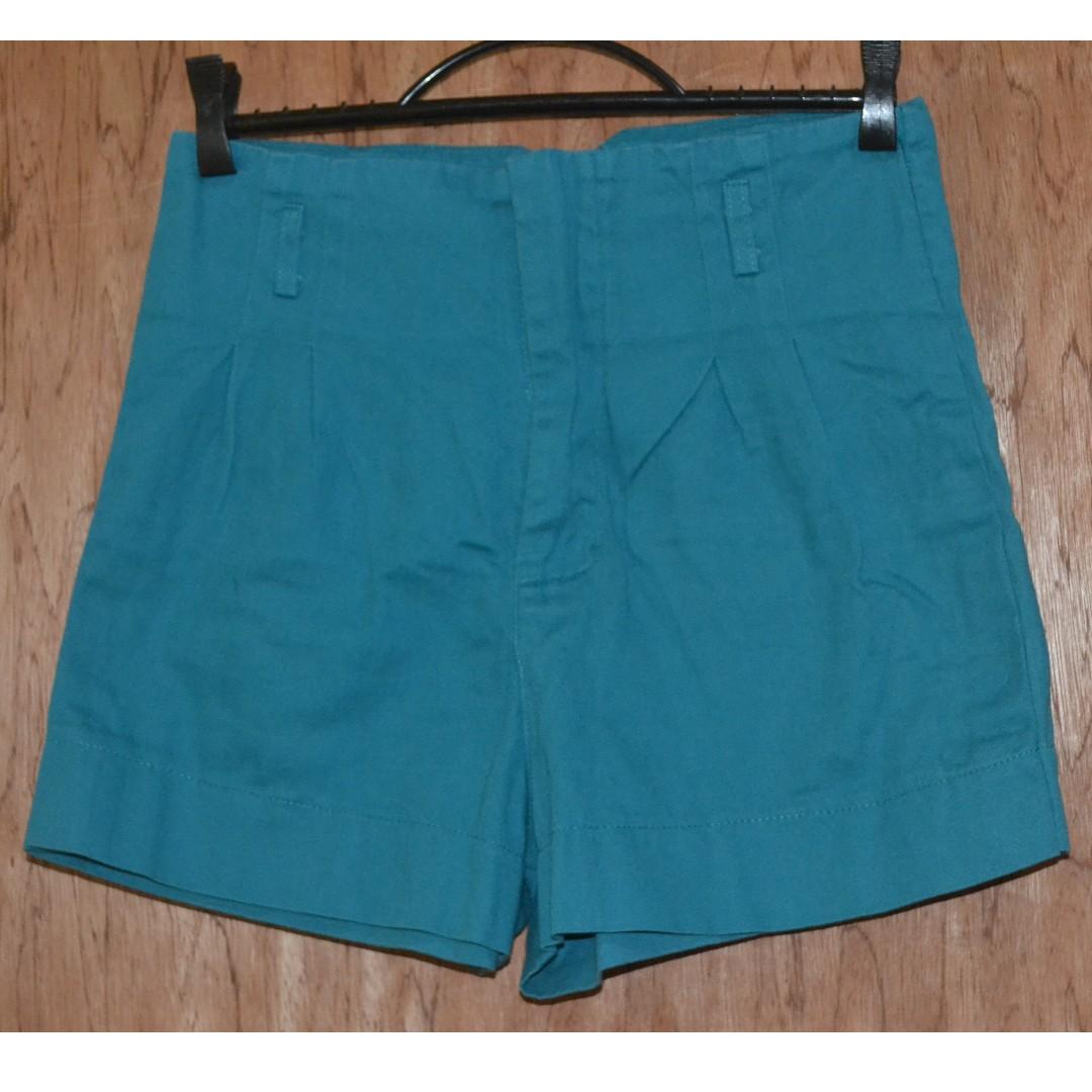 Teal High-waist short
