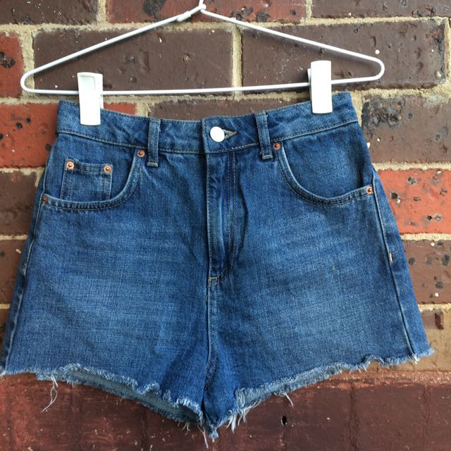 Topshop Ripped Mom Shorts Size 8