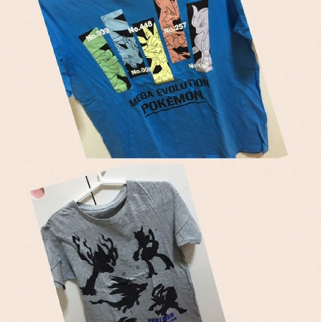 Uniqlo Pokemon Shirts