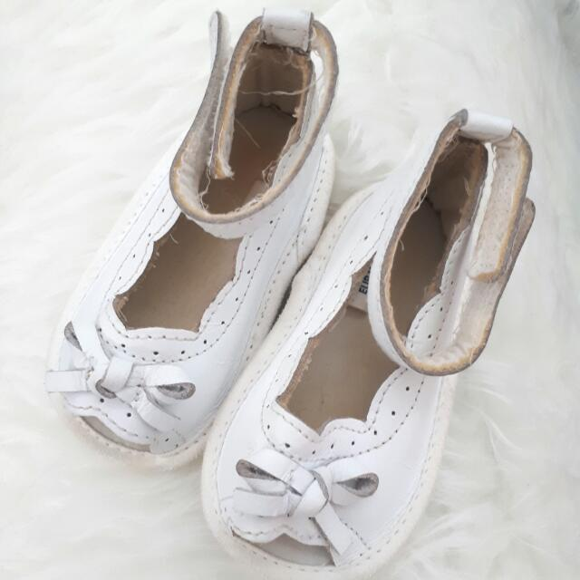 White Open Thoe Prewalker Shoes By MOTHERCARE
